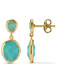 QOOQI - Earrings - turquoise - 1