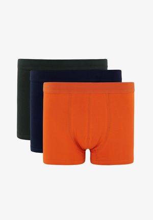 3 PACK - Pants - dark blue/ mottled orange/ dark green