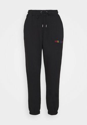 PRIDE JOGGERS - Tracksuit bottoms - black