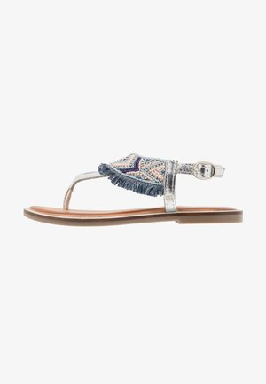 BERMUDAS - T-bar sandals - blue