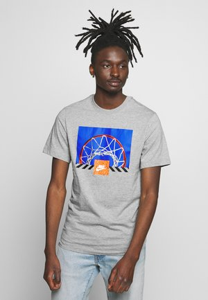 BBALL PHOTO TEE - Print T-shirt - dark  grey heather
