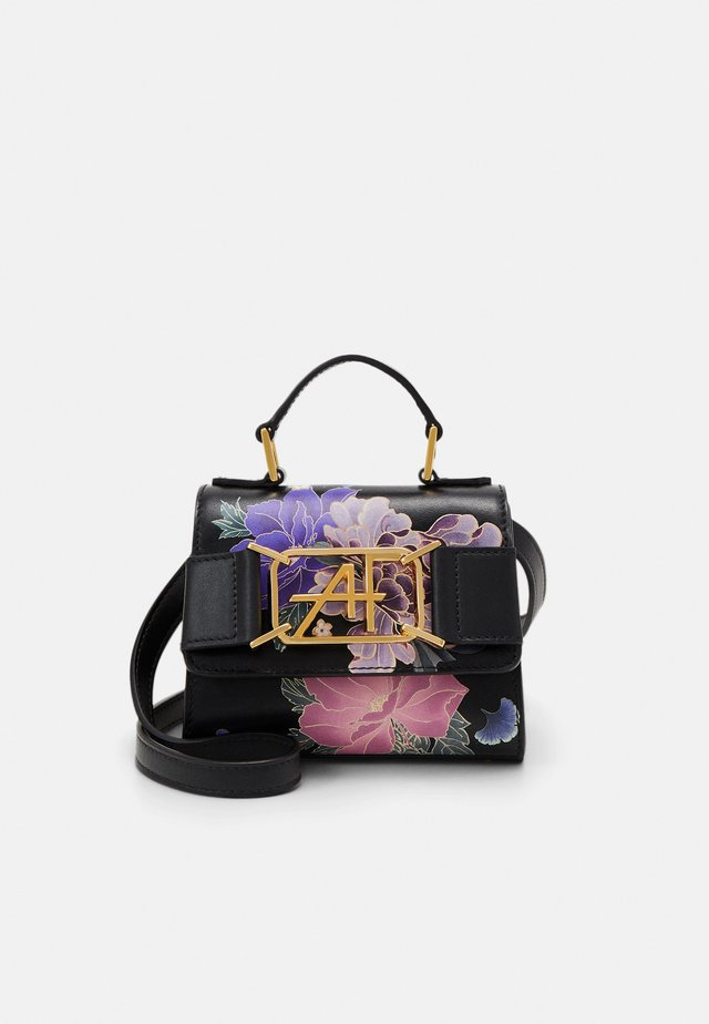 MEDIUM FLORAL TOP HANDLE - Handbag - fantasy black