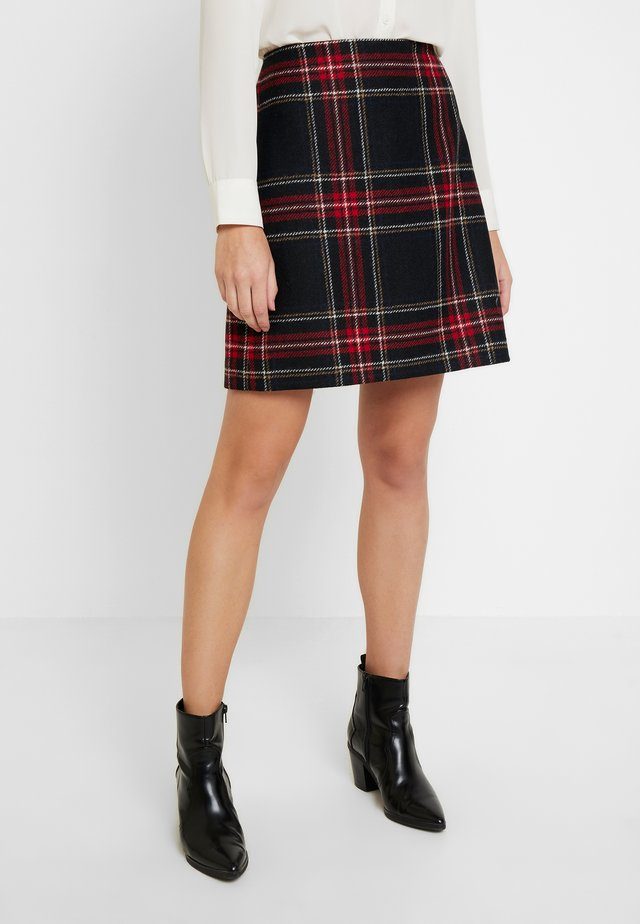 ELEA SKIRT - Minifalda - black/multi