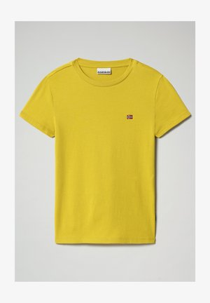 SALIS - Basic T-shirt - yellow moss