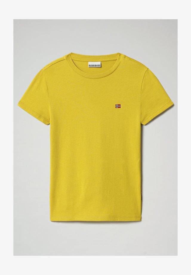 SALIS - T-shirt basic - yellow moss