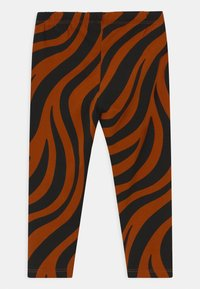 Lindex - ZEBRA UNISEX - Leggings - Trousers - off black - 1