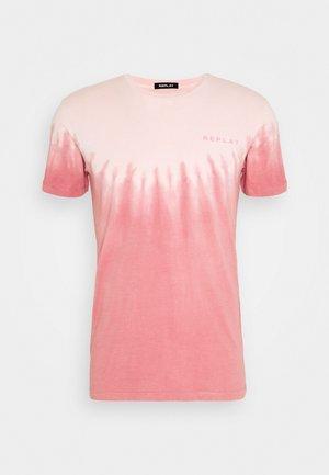 Print T-shirt - rose white