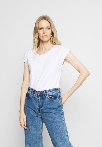 3 PACK - Basic T-shirt - black/white/mottled light grey