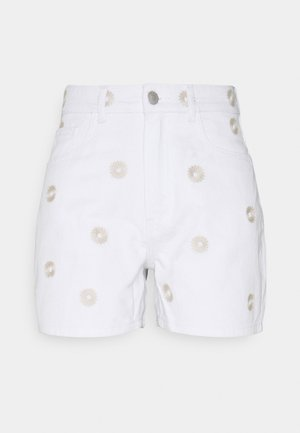 VMJOANA - Denim shorts - bright white