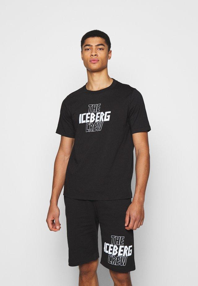 THE CREW - T-shirt print - nero