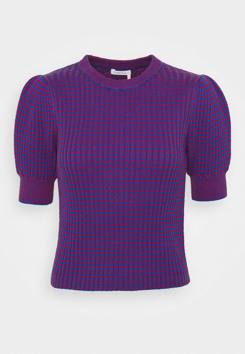See by Chloé - T-shirt imprimé - blue/red