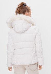 Bershka - Down jacket - white - 2