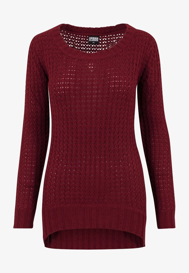 Jumper - burgundy