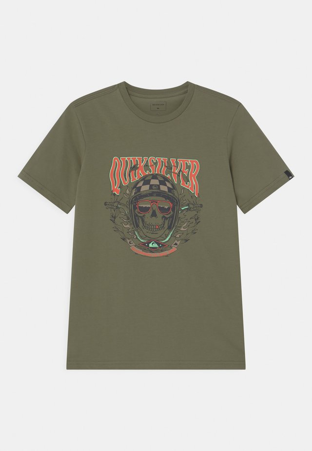 BIKER SKULL - Print T-shirt - four leaf clover