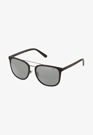 Sluneční brýle - rubber black/mirror silver