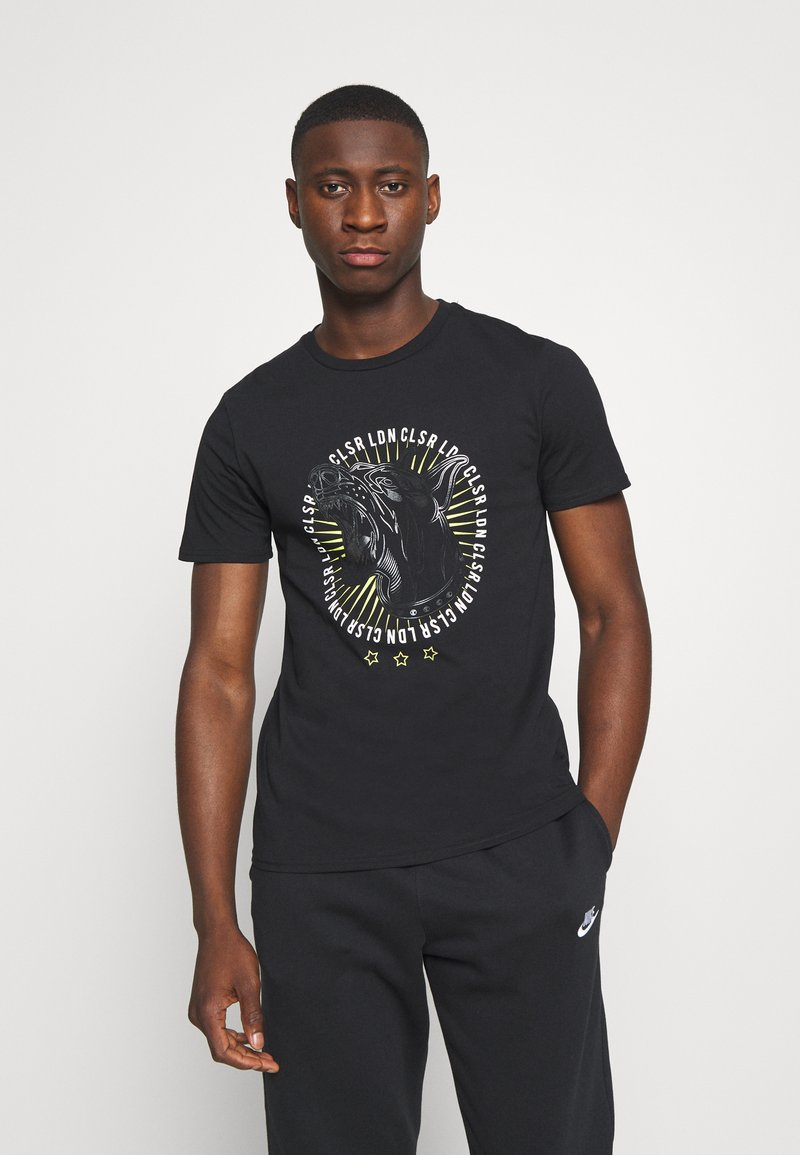 CLOSURE London - GUARD DOG TEE - Print T-shirt - black