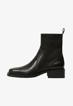 MIT REISSVERSCHLUSS - Korte laarzen - schwarz