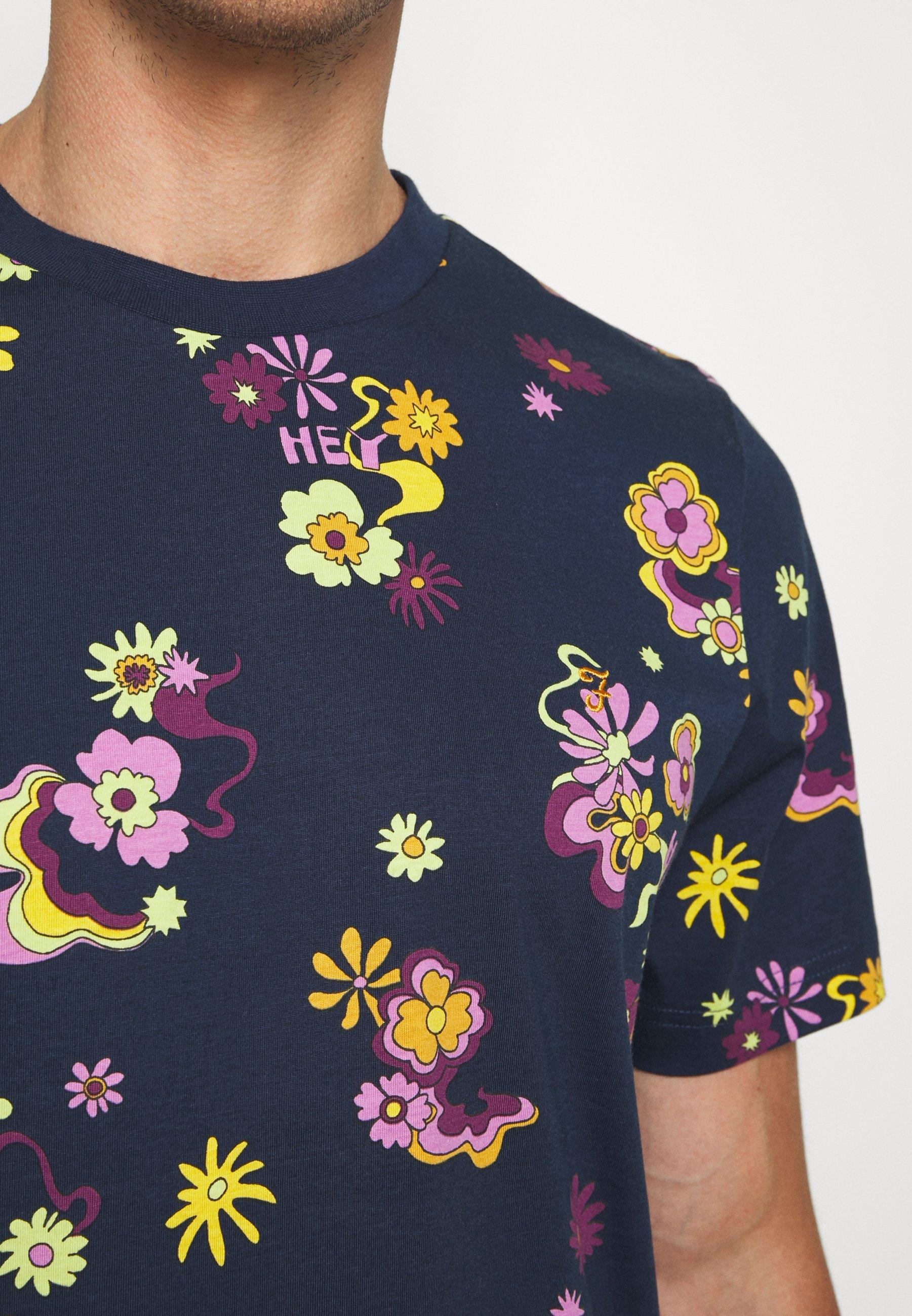 Farah BERKLEY - Print T-shirt - yale Cgprq