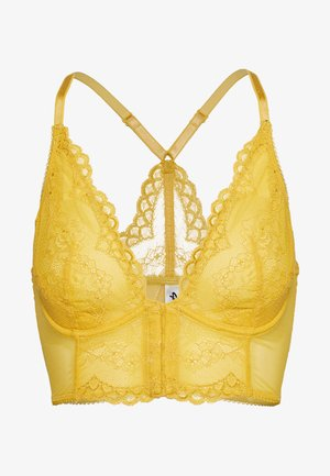 LACE - Underwired bra - spicy mustard