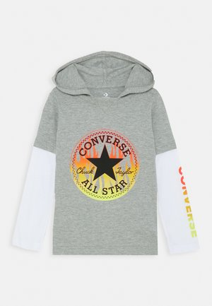 FLAMES HOODIE - Sweat à capuche - dark grey heather