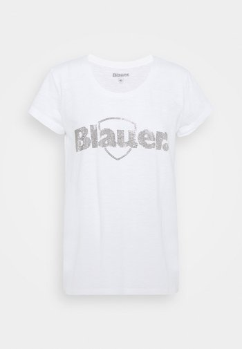 SWAROWSKI LOGO - Print T-shirt - white