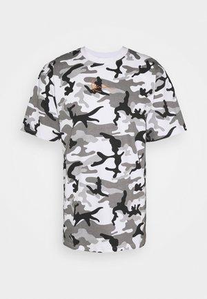 SMALL SIGNATURE CAMO TEE - Print T-shirt - white