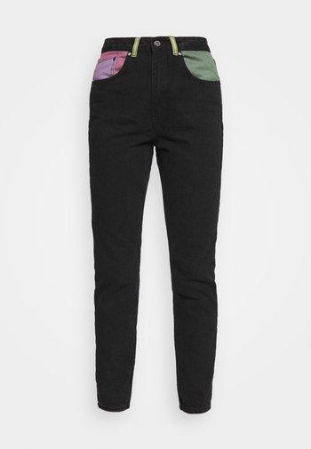 ILLUMINATE - Straight leg jeans - charcoal/mixed colours