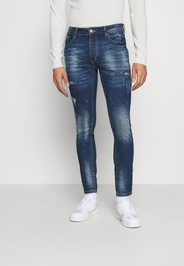 KERSLEY - Jeans slim fit - blue denim