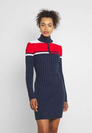 COLORBLOCK SWEATER DRESS - Sukienka dzianinowa - twilight navy/multi