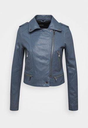 YOKO - Leather jacket - blue
