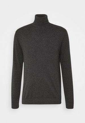SLHBERG ROLL NECK - Pullover - antracit melange