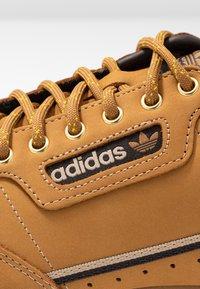 adidas Originals - CONTINENTAL 80 - Sneakers basse - mesa/night brown/equipment yellow - 5