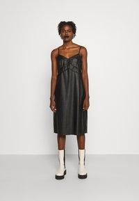 MM6 Maison Margiela - DRESS - Shift dress - black - 0