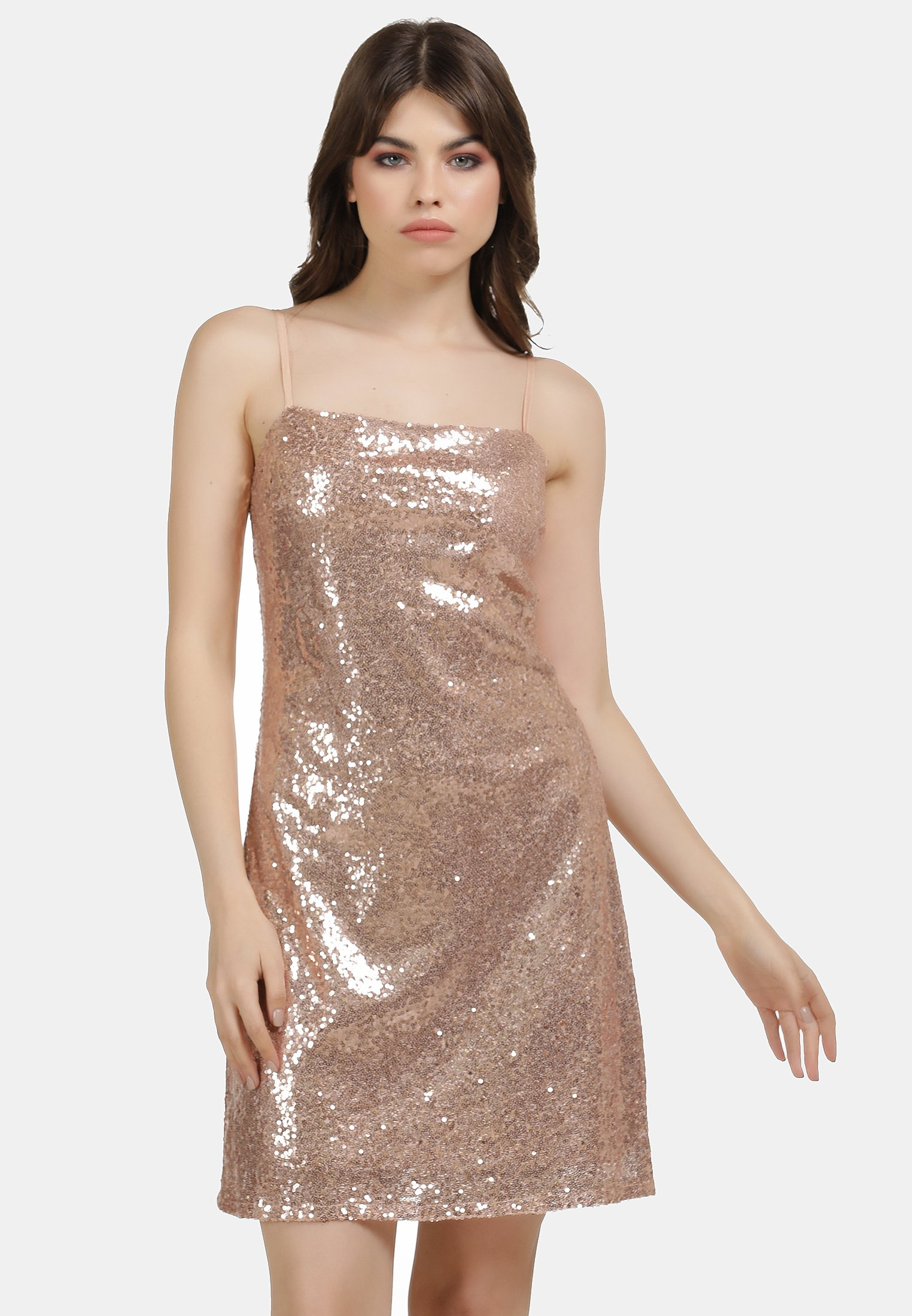 Fashionable Women's Clothing myMo PAILLETTENKLEID Cocktail dress / Party dress rosa gold YIsDPuyeV