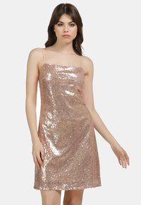 myMo at night - PAILLETTENKLEID - Cocktail dress / Party dress - rosa gold - 0