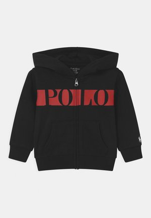 HOOD - veste en sweat zippée - polo black