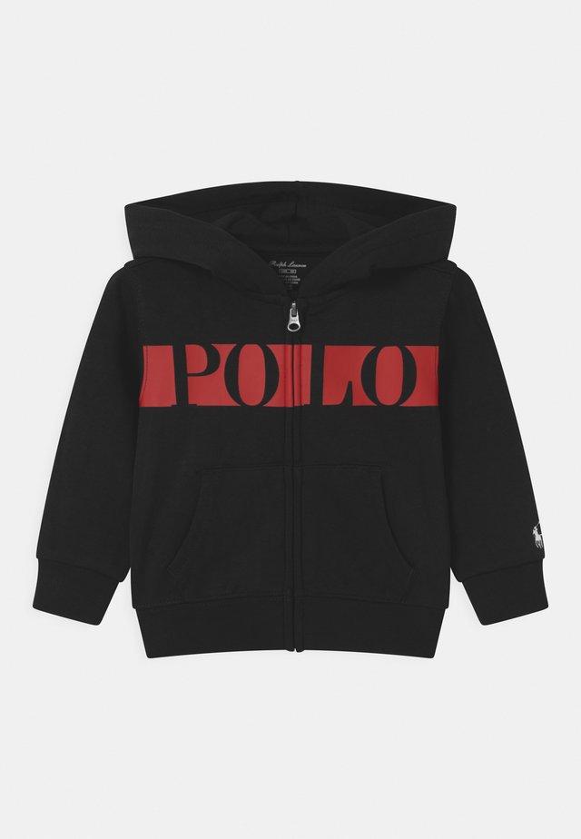HOOD - Zip-up hoodie - polo black