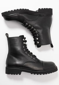 Versace Jeans Couture - Lace-up ankle boots - black - 1