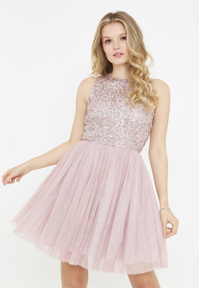 Cocktail dress / Party dress - frosted pink