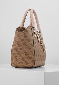 Guess - CANDACE SOCIETY SATCHEL - Handbag - brown - 3