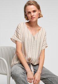 Q/S designed by - Blouse - beige stripes - 6