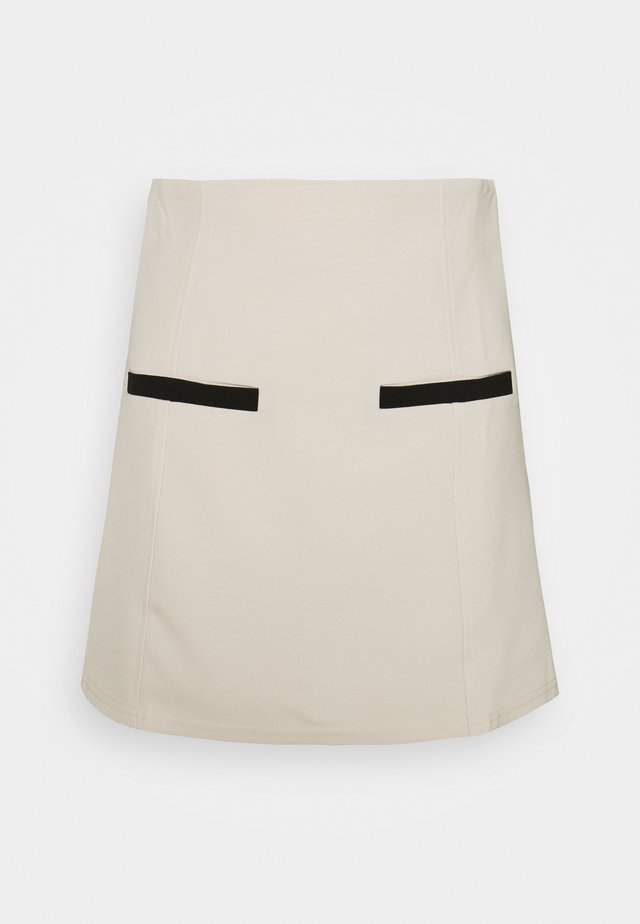 LAYLA SKIRT - Mini skirt - cream