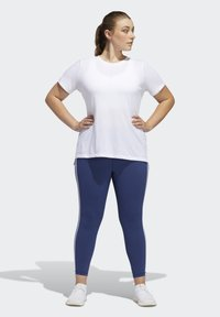 adidas Performance - BELIEVE THIS 3-STRIPES 7/8 LEGGINGS - Tights - blue - 1