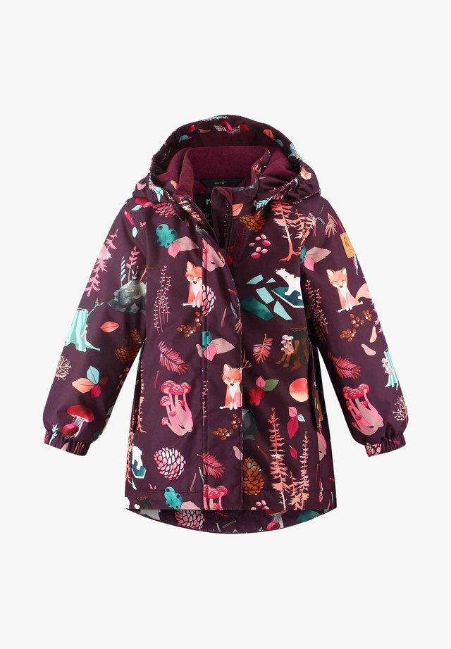 Winter coat - deep purple