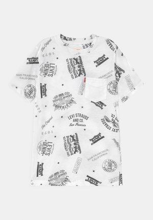 WHITE PRINTED TEE - Print T-shirt - white