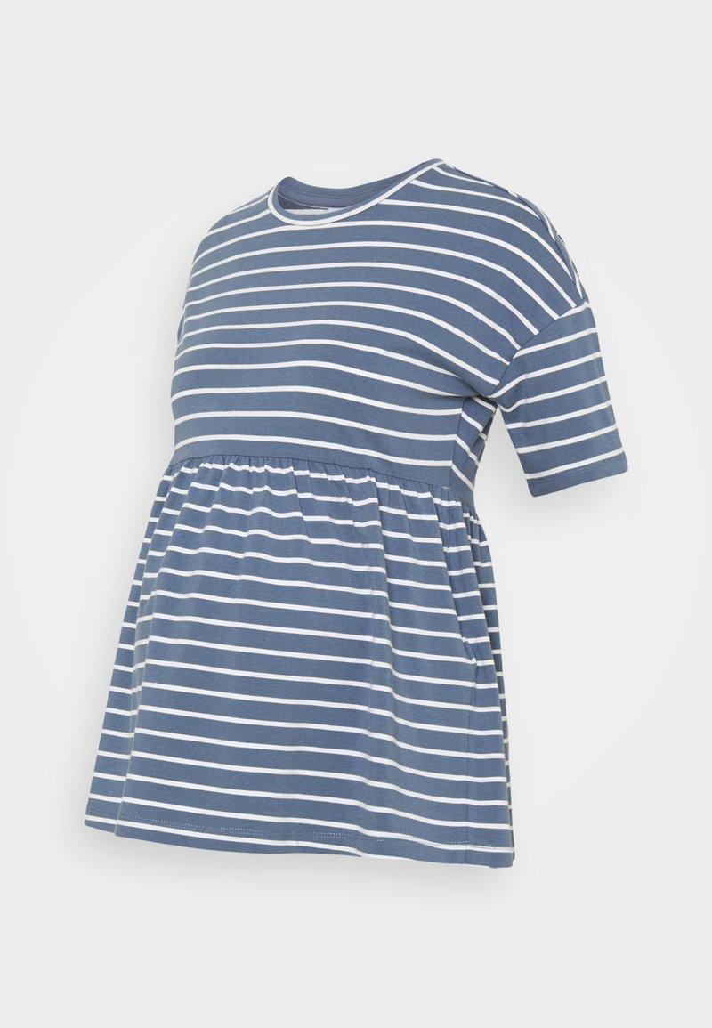 MAMALICIOUS - MLOTEA - T-shirt z nadrukiem - china blue/snow white