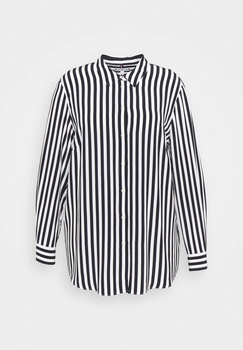 Tommy Hilfiger Curve - BLOUSE - Button-down blouse - desert sky