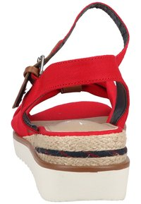 TOM TAILOR - Wedge sandals - red - 2