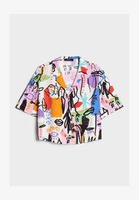 Bershka - MIT BUNTEM  - Button-down blouse - stone - 4