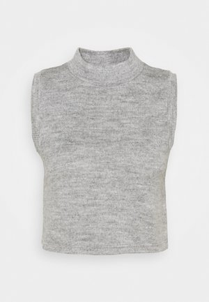 NMTERRY VEST - Top - light grey melange